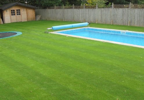 striped artificial grass
